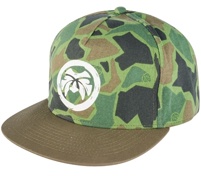 Urban Beach Camo Flat Peak Snap Back  - Click to view a larger image