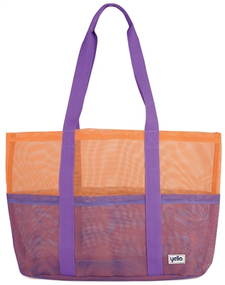 Yello Purple Mesh Beach Bag  - Click to view a larger image