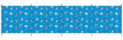 Yello 5 Pole Sailboat Windbreak   - Click to view a larger image