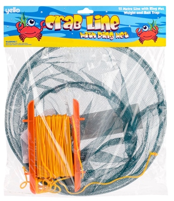 Yello Crab Line with Ring Net   - Click to view a larger image