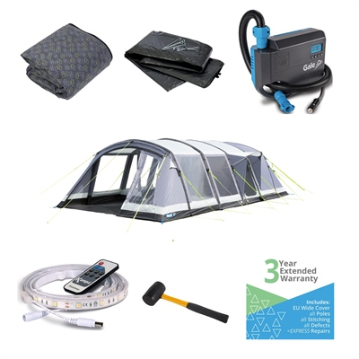 Kampa Croyde 6 Air Pro Ultimate Tent Package  - Click to view a larger image