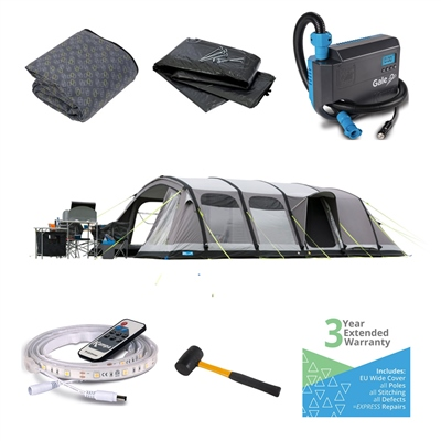 Kampa Dometic Studland 8 Classic Air Ultimate Tent Package 2019  - Click to view a larger image