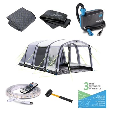 Kampa Hayling 4 Air Pro Ultimate Tent Package  - Click to view a larger image