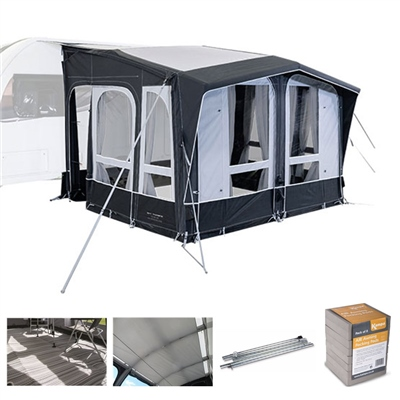 Kampa Dometic Club AIR All Season 330 Caravan Awning Package Deal 2020   - Click to view a larger image