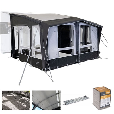 Kampa Club AIR All Season 390 Caravan Awning Package Deal 2020   - Click to view a larger image