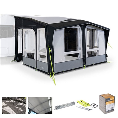 Kampa Dometic Club AIR Pro 390 Caravan Awning Package Deal 2020   - Click to view a larger image