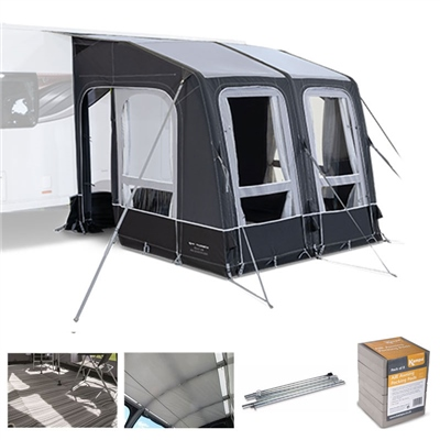 Kampa Dometic Rally AIR All Season 260 Caravan Awning Package Deal 2020  - Click to view a larger image