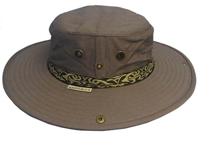 White Rock - Classic Outback Hat with Band Dark Grey