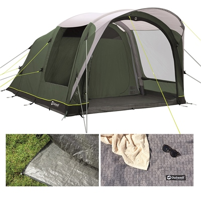 Outwell Lindale 5PA Air Tent Package Deal 2021  - Click to view a larger image