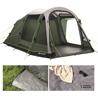 Outwell Rosedale 5PA Air Tent Package Deal 2020  - Click to view a larger image