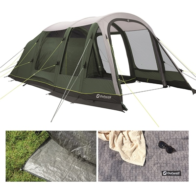 Outwell Parkdale 4PA Air Tent Package Deal 2020  - Click to view a larger image