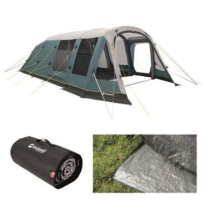 Outwell Knightdale 7PA Air Tent Package Deal 2020  - Click to view a larger image