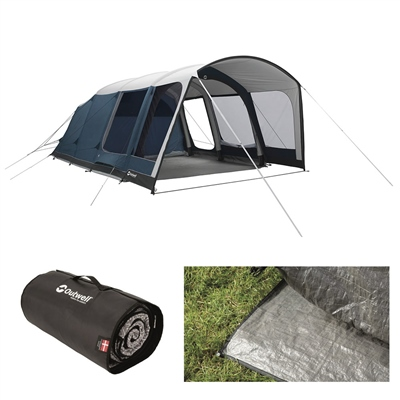 Outwell Rock Lake 5ATC Air Tent Package Deal 2020  - Click to view a larger image