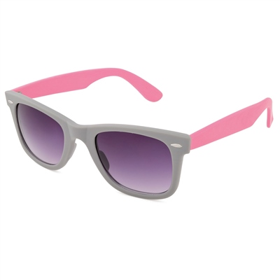Urban Beach Womens Two Tone Sunglasses Slate/Pink  - Click to view a larger image