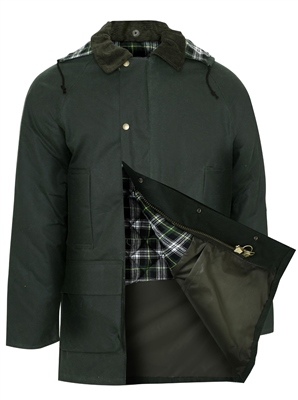 Champion Howick Mens Wax Padded Jacket Olive  - Click to view a larger image