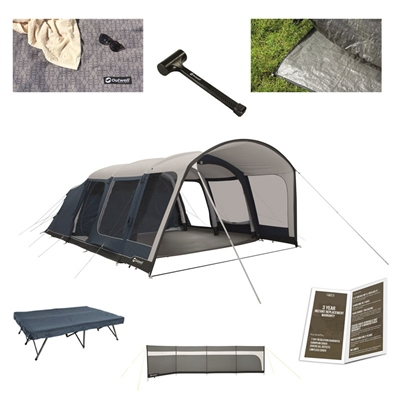 Outwell Rock Lake 6ATC Ultimate Tent Package Deal  - Click to view a larger image