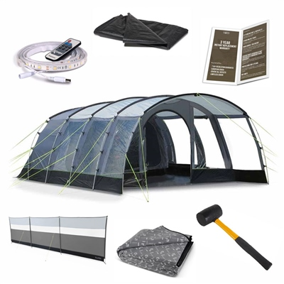 Kampa Dometic Hayling 6 Ultimate Tent Package Deal  - Click to view a larger image