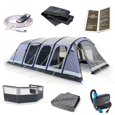 Kampa Dometic Studland 6 Air Ultimate Tent Package Deal