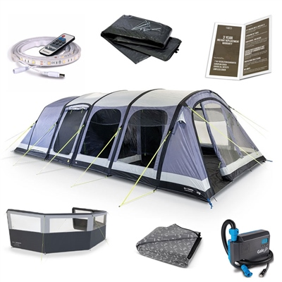 Kampa Dometic Studland 8 Air Ultimate Tent Package Deal  - Click to view a larger image