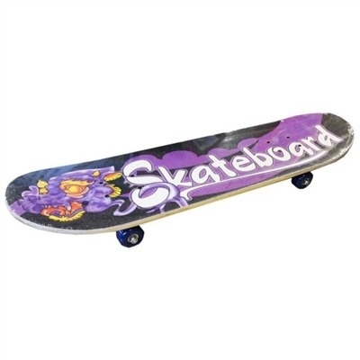 """PMS 17"""" Retro Wooden Children's Skateboard   - Click to view a larger image"""