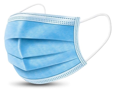Emergency 10 Pack 3 Ply Surgical Face Masks  - Click to view a larger image