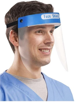 Emergency Face Shield With Anti Fog Screen   - Click to view a larger image