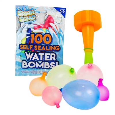 PMS 100 Water Bombs With Filler   - Click to view a larger image
