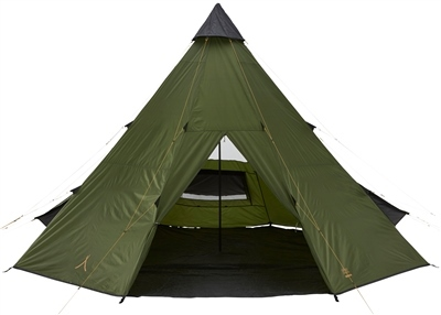 Grand Canyon Black Falls 8 Tipi + Sleeping Bags  - Click to view a larger image