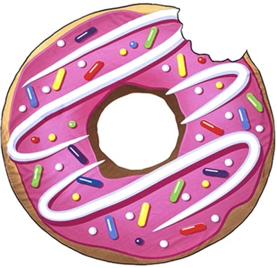 Wet N Wild Donut Beach Towel   - Click to view a larger image