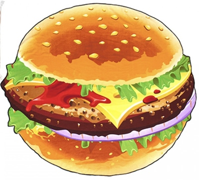 Wet N Wild Hamburger Beach Towel   - Click to view a larger image