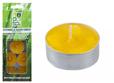 PMS 10 Pack Citronella Tea Light   - Click to view a larger image