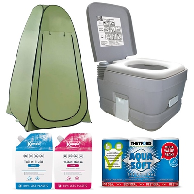 Camping World Flushing Toilet Bundle Deal   - Click to view a larger image
