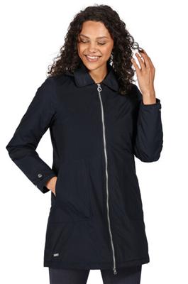 Regatta Womens Celinda Parka Jacket Navy  - Click to view a larger image
