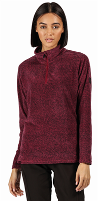 Regatta Pimlo Half Zip Womens Fleece Purple Potion  - Click to view a larger image