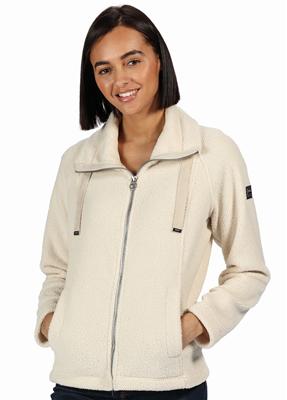 Regatta Zaylee Womens Full Zip Fleece Light Vanilla  - Click to view a larger image
