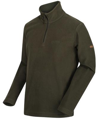 Regatta Mens Elgrid Half Zip Fleece Dark Khaki  - Click to view a larger image