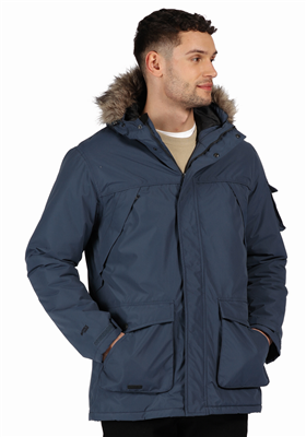 Regatta Mens Salinger II Parka Jacket Dark Denim  - Click to view a larger image