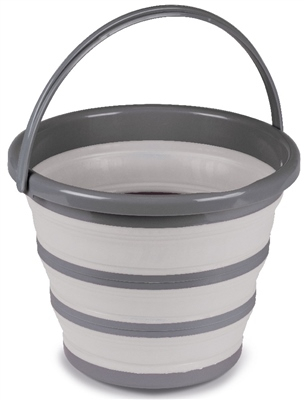 Kampa 10L Collapsible Bucket Grey  - Click to view a larger image
