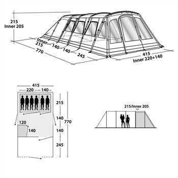 Outwell Vermont L Tent Spares CampingWorld.co.uk