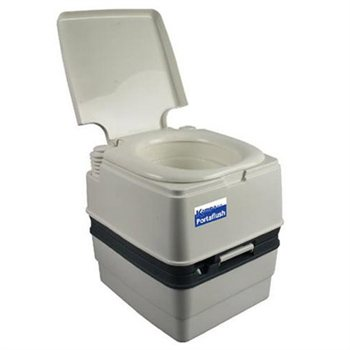 Review Kampa Portaflush 21 Deluxe Portable Toilet | Camping World ...