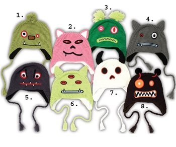 White Rock Bad Trip Monster Hats  - Click to view a larger image