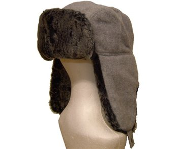 White Rock Fur Bomber Ski Hat  - Click to view a larger image