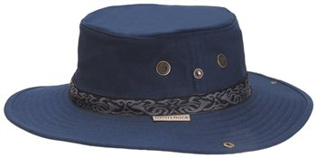 White Rock - Classic Outback Hat with Band NAVY BLUE