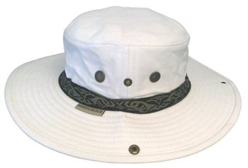 White Rock Classic Outback Cricket Hat with Band WHITE