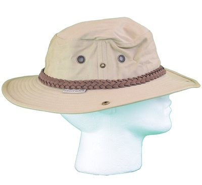 White Rock Classic Outback Hat with Suede Band KHAKI  - Click to view a larger image