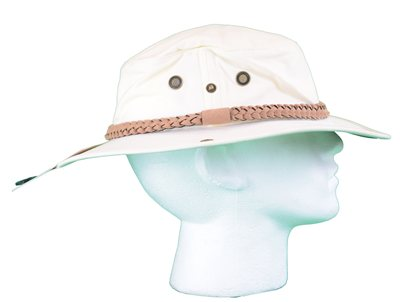 White Rock Classic Outback Hat with Suede Band Off White   - Click to view a larger image