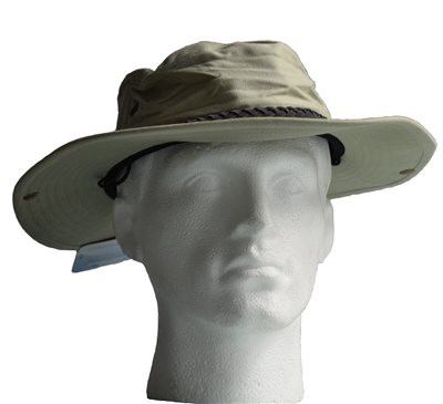 White Rock - Classic Outback Hat with Suede Band Light Green