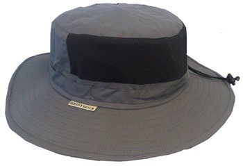 White Rock Outback X-Lite Micro-Fibre Adjustable Vent Hat DARK GREY  - Click to view a larger image