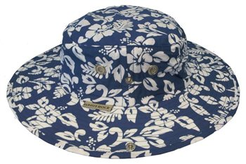 White Rock Outback X-Lite Hawaiian Hat NAVY  - Click to view a larger image