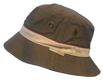 White Rock Oasis Cotton Solid Band Hat KHAKI  - Click to view a larger image